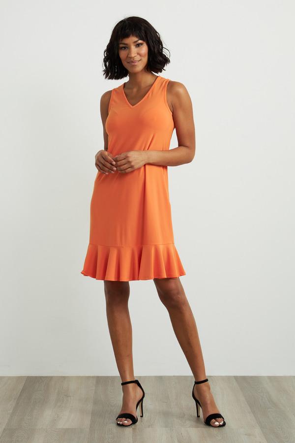 Joseph Ribkoff Sleeveless Mini Dress Style 212204. Tangerine