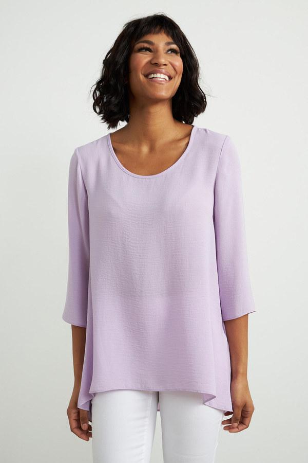 Joseph Ribkoff 3/4 Sleeve Top Style 212185. Sweet Lilac