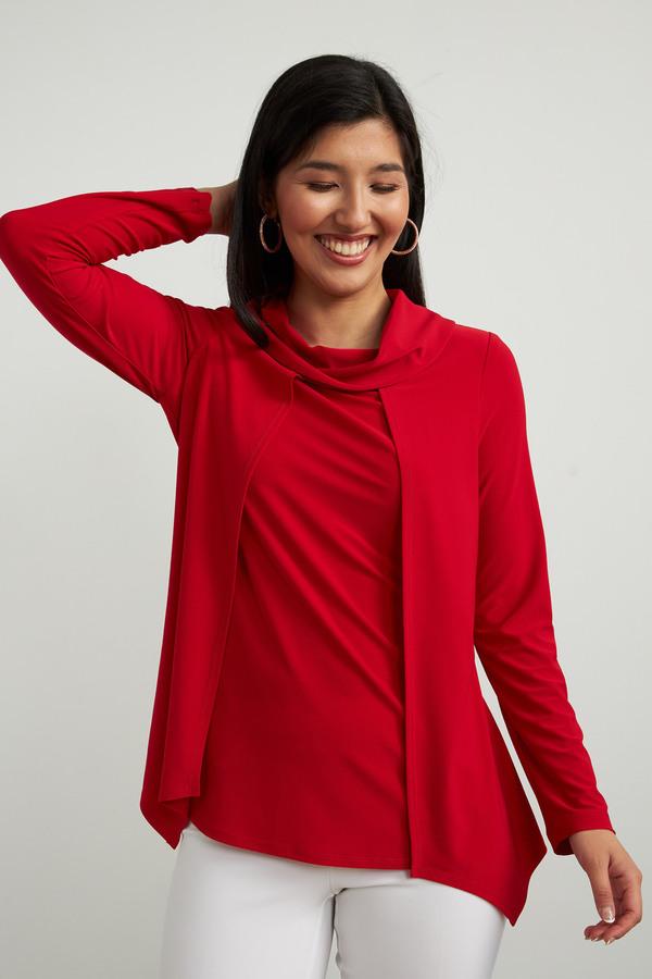 Joseph Ribkoff Lipstick Red 173 Shirts & Blouses Style 213047
