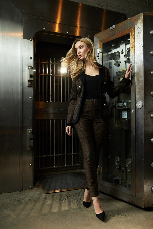 Joseph Ribkoff Pantalons Noir/Brun Style 213050