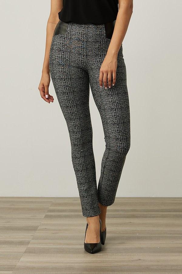 Joseph Ribkoff Plaid Pants Style 213050. Black/Grey