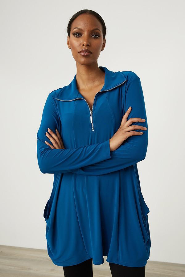 Joseph Ribkoff Front Zip Tunic Style 213075. Aquarius