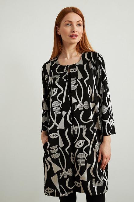 Joseph Ribkoff Vêtements d'extérieur Noir/Ecru Style 213094