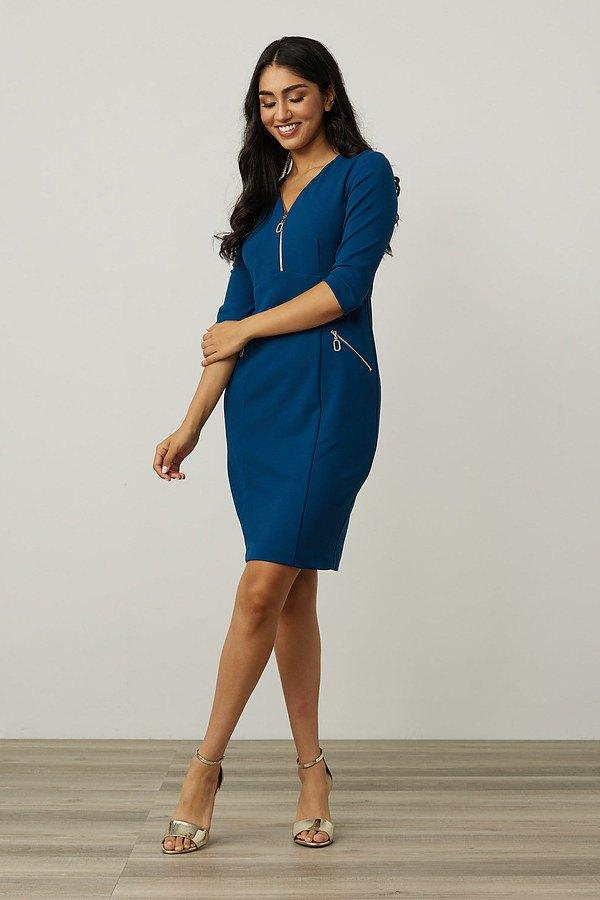 Joseph Ribkoff Zip Detail Sheath Dress Style 213100. Aquarius