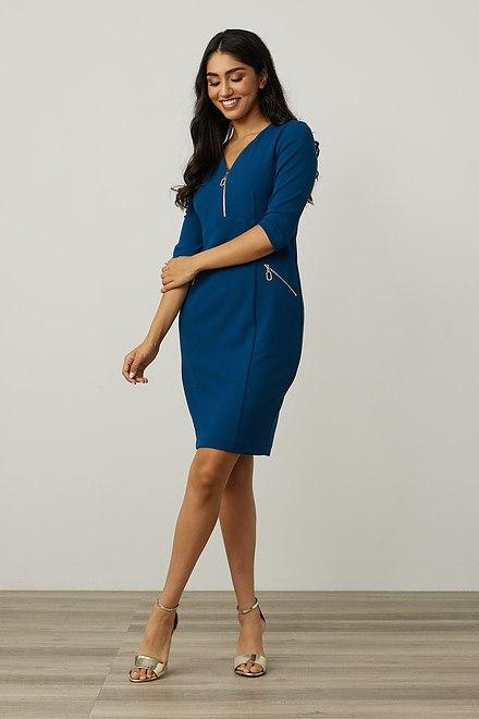 Joseph Ribkoff Zip Detail Sheath Dress Style 213100