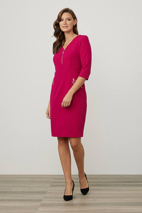 Joseph Ribkoff Zip Detail Sheath Dress Style 213100. Dahlia