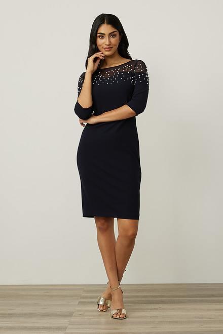 Joseph Ribkoff Mesh Insert Dress Style 213105