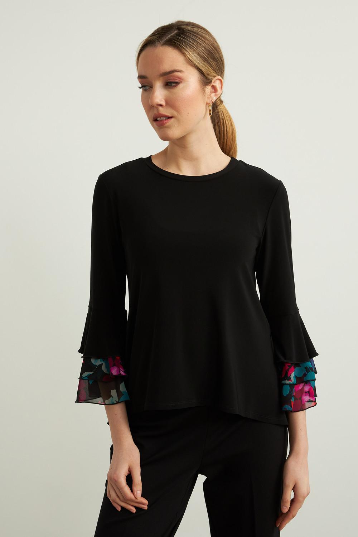 Joseph Ribkoff Black/Multi Shirts & Blouses Style 213113