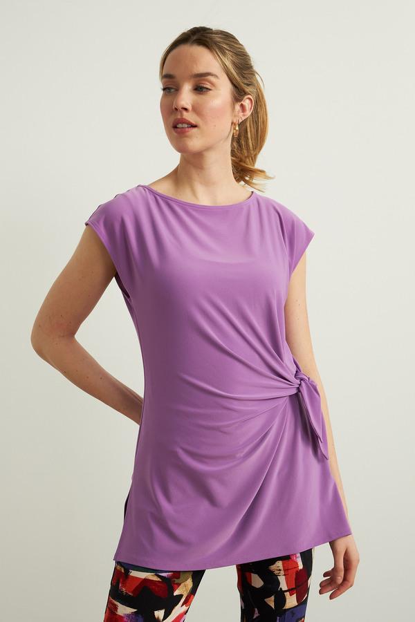Joseph Ribkoff Draped Sleeveless Top Style 213119. Hydrangea