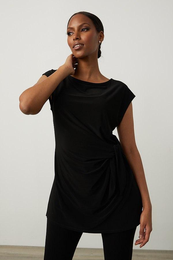 Joseph Ribkoff Draped Sleeveless Top Style 213119. Black