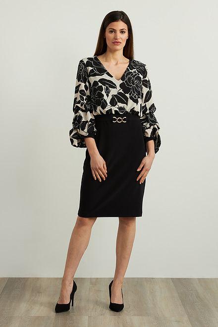 Joseph Ribkoff Black/Beige Dresses Style 213126