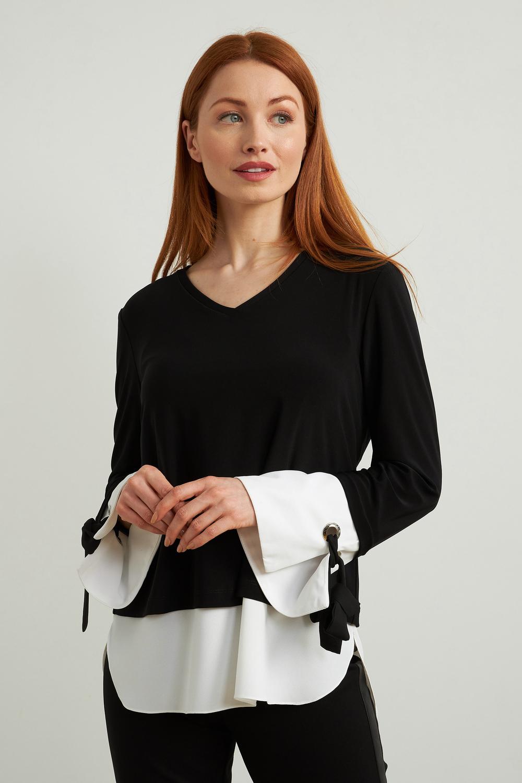 Joseph Ribkoff Chemises et blouses Noir/Vanille Style 213250