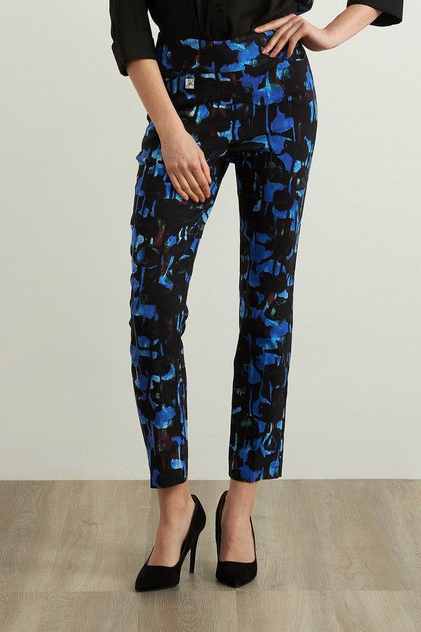 Joseph Ribkoff Pantalons Noir/Saphir Royale Style 213297