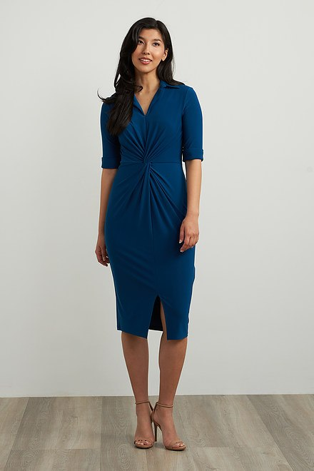 Joseph Ribkoff Wrap Front Sheath Dress Style 213327