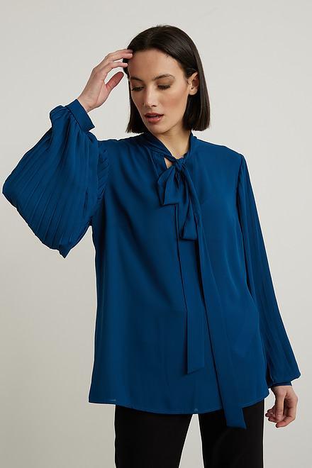 Joseph Ribkoff Neck-Tie Georgette Blouse Style 213332