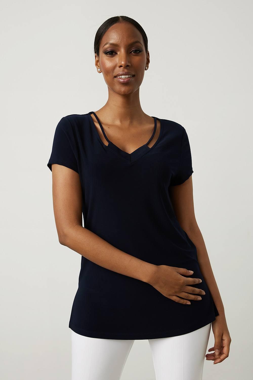 Joseph Ribkoff Midnight Blue Tees & Camis Style 213338