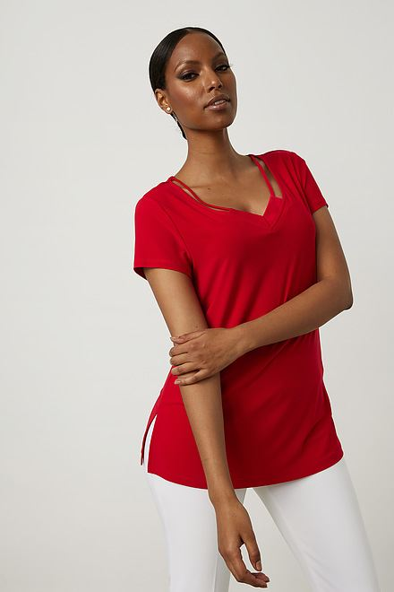 Joseph Ribkoff Tee-shirts et camisoles Rouge A Levres 173 Style 213338