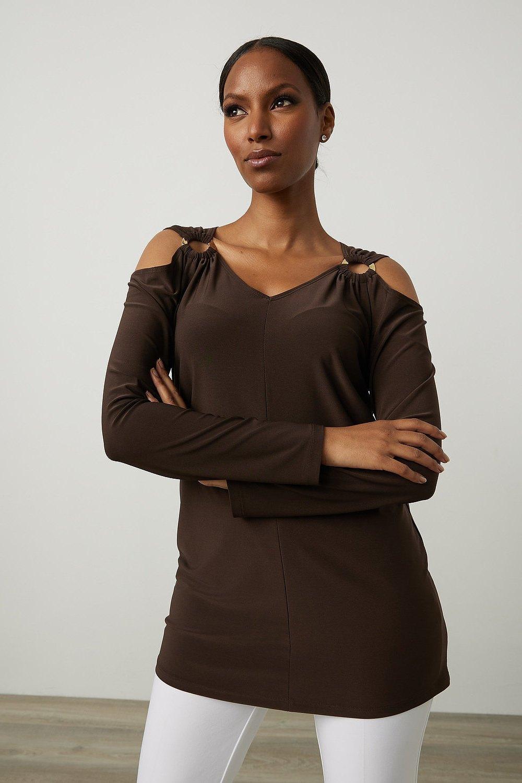 Joseph Ribkoff Mocha Shirts & Blouses Style 213342