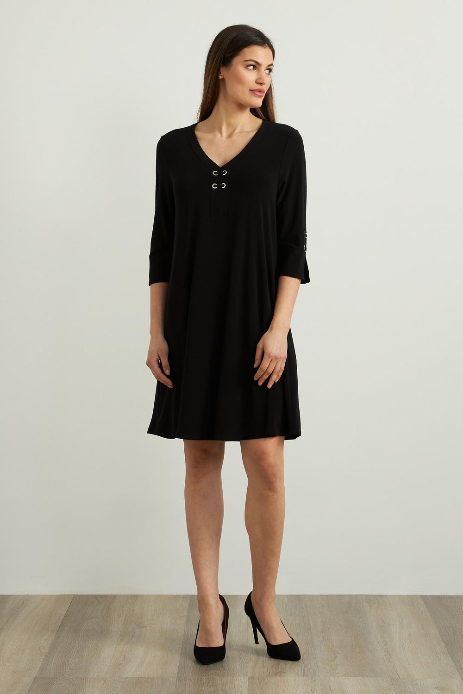 Joseph Ribkoff Black Dresses Style 213361