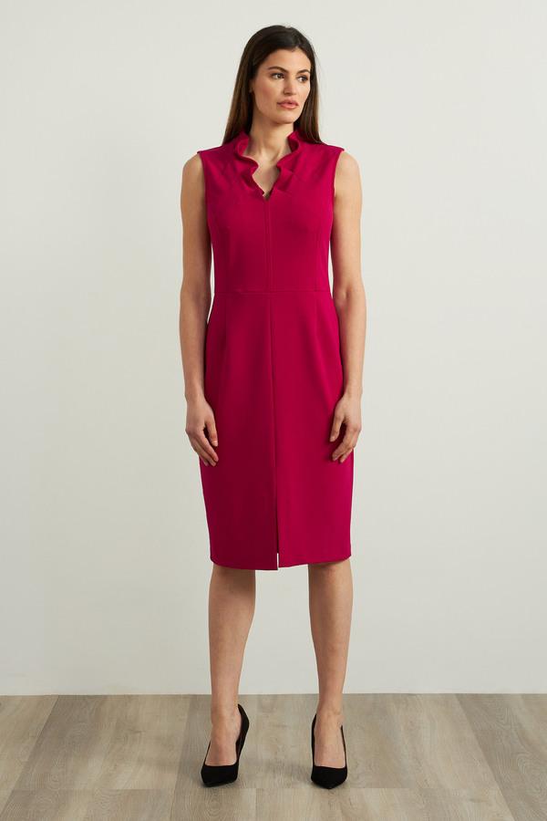 Joseph Ribkoff Sleeveless Crepe Dress Style 213365. Dahlia