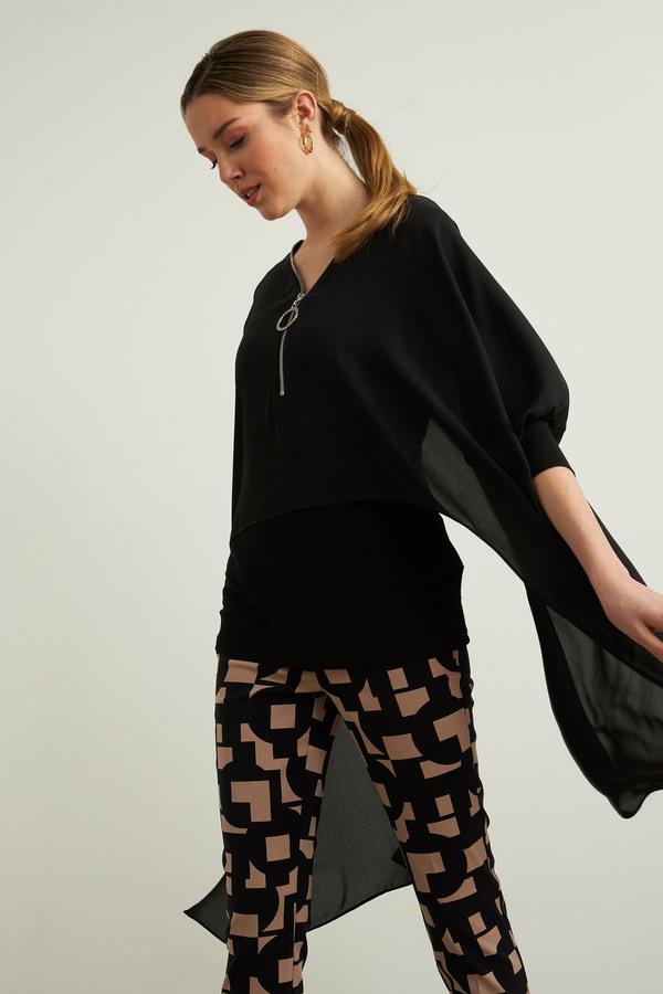 Joseph Ribkoff Oversized Blouse Style 213369. Black