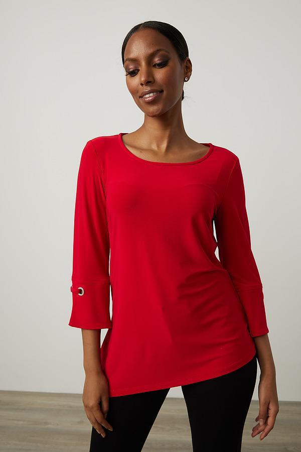 Joseph Ribkoff Lipstick Red 173 Shirts & Blouses Style 213373