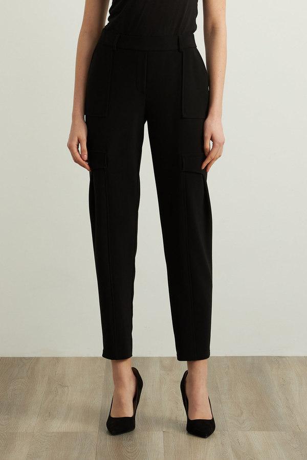 Joseph Ribkoff Straight Leg Pants Style 213375. Black