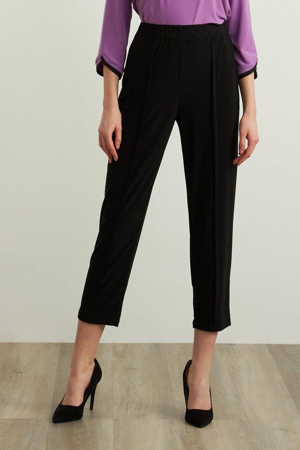 Joseph Ribkoff Pleated Pants Style 213376. Black