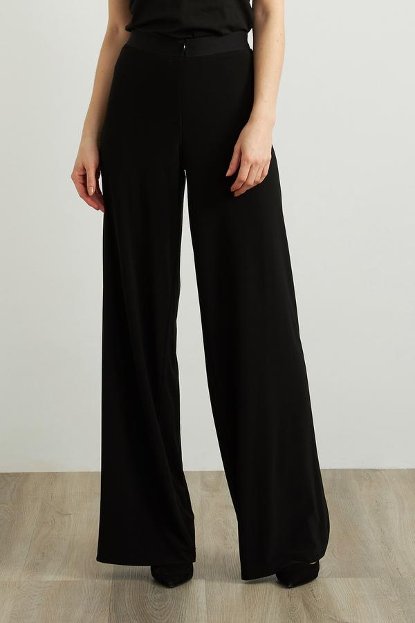 Joseph Ribkoff Wide Leg Pants Style 213378. Black