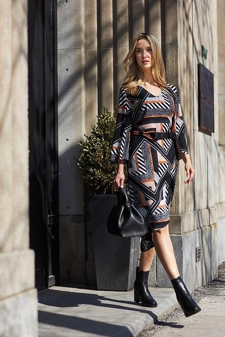 Joseph Ribkoff Geo Print Wrap Dress Style 213391