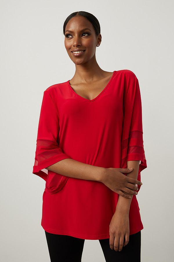 Joseph Ribkoff Lipstick Red 173 Shirts & Blouses Style 213393