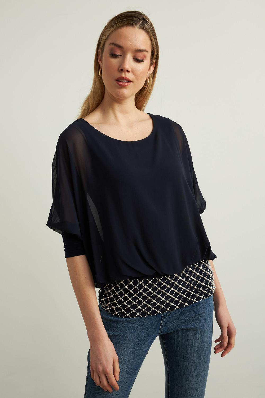 Joseph Ribkoff Chemises et blouses Bleu Nuit Style 213395