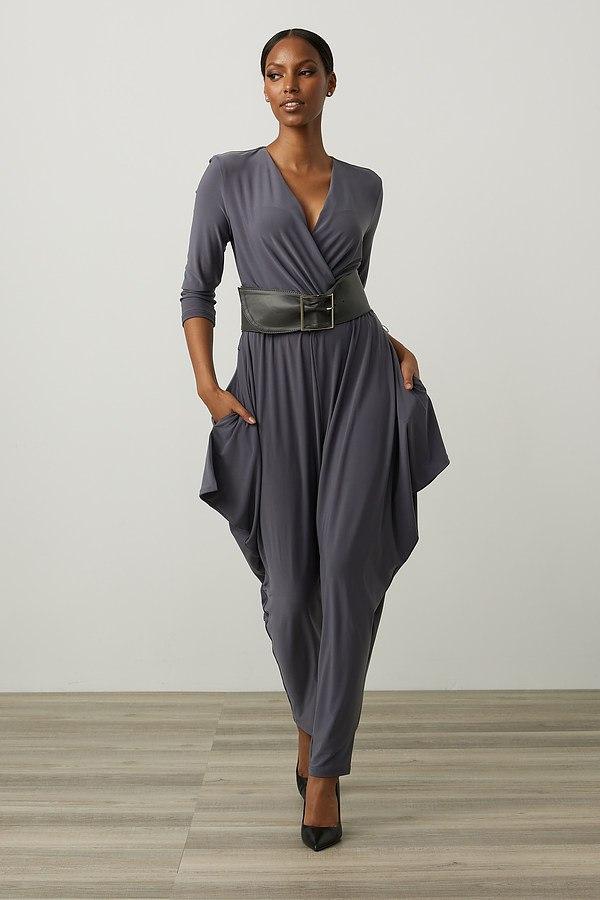 Joseph Ribkoff Belted Jumpsuit Style 213410. Granite