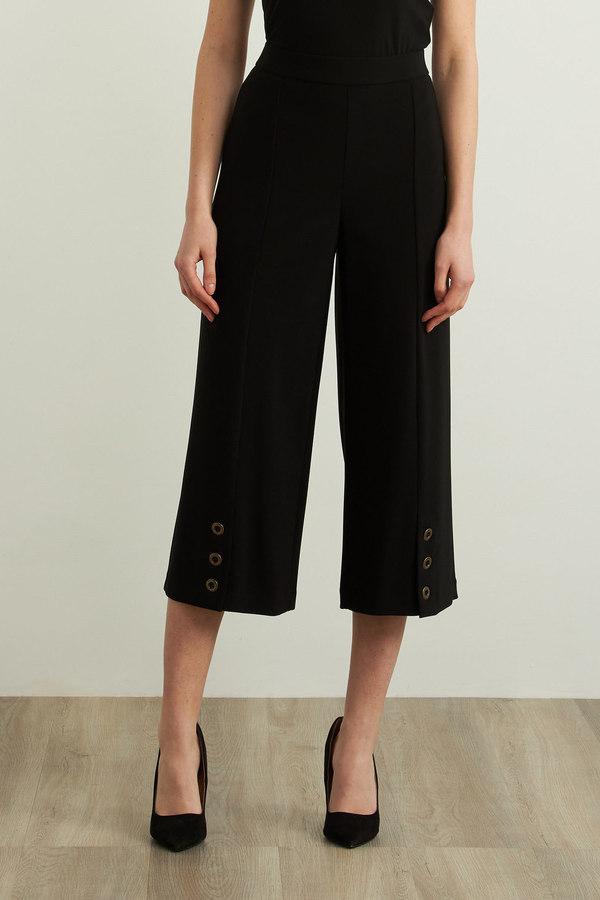 Joseph Ribkoff Wide Leg Cropped Pants Style 213411. Black