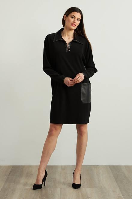Joseph Ribkoff Leatherette Accent Dress Style 213415