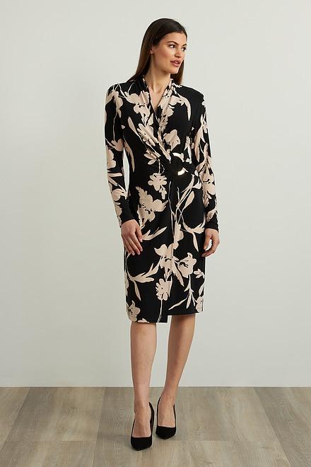 Joseph Ribkoff Floral Wrap Front Dress Style 213424