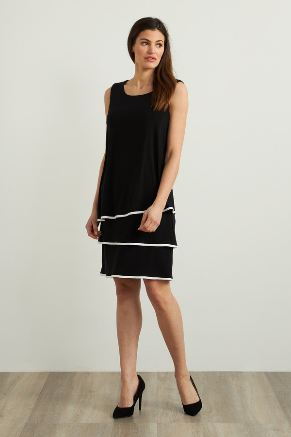 Joseph Ribkoff Black/Off White Dresses Style 213427