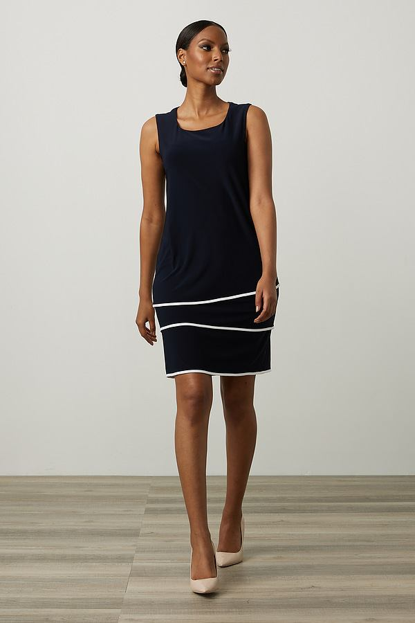 Joseph Ribkoff Robes Bleu Minuit/Vanille Style 213427
