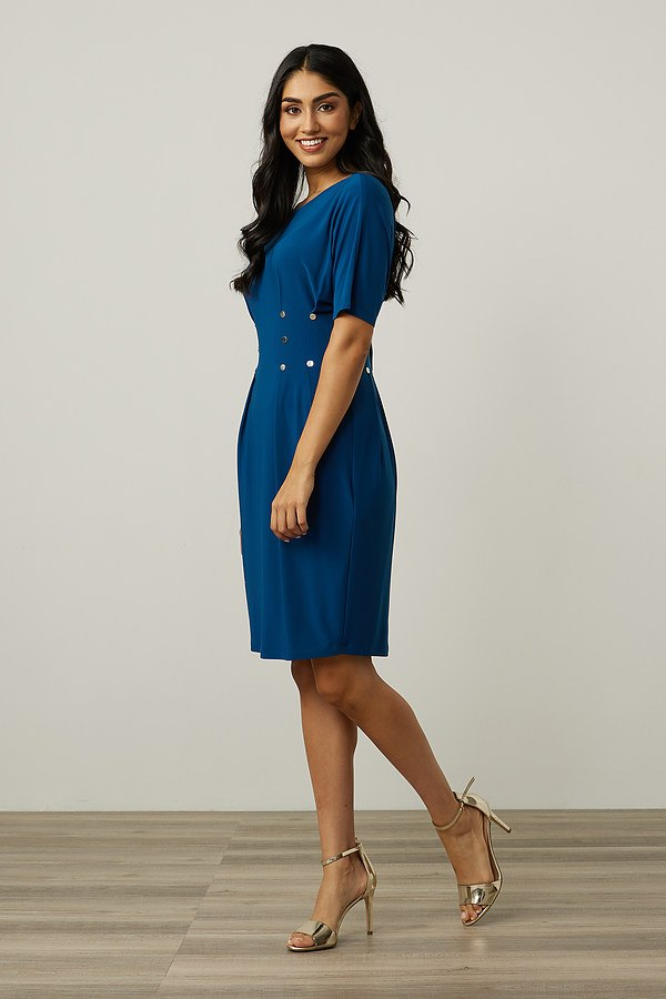 Joseph Ribkoff Waist Buttoned Dress Style 213445. Aquarius