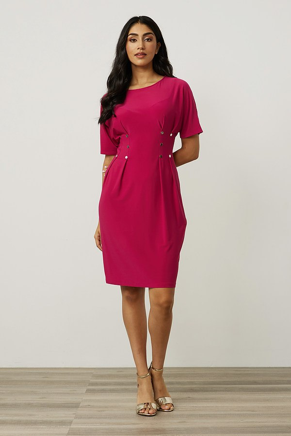 Joseph Ribkoff Waist Buttoned Dress Style 213445. Dahlia