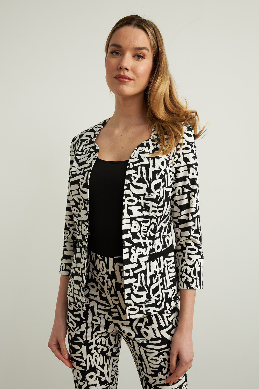 Joseph Ribkoff Black/Vanilla Jackets Style 213452