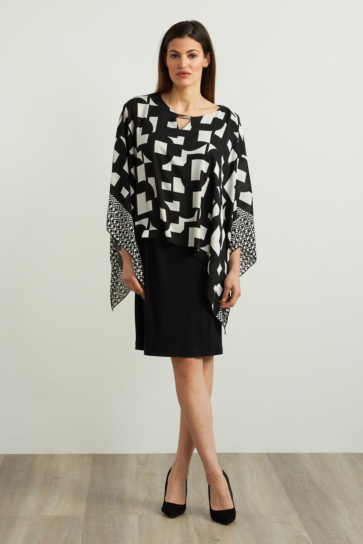 Joseph Ribkoff Robes Noir/Vanille Style 213467