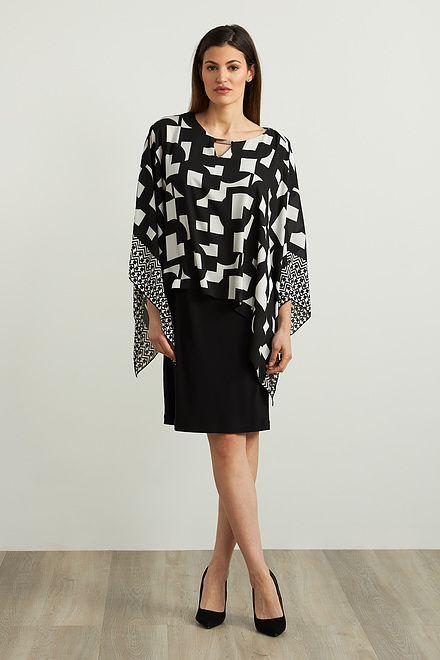 Joseph Ribkoff Georgette Blouse Dress Style 213467