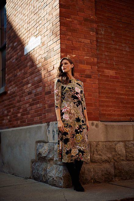 Joseph Ribkoff Paisley & Floral Dress Style 213560