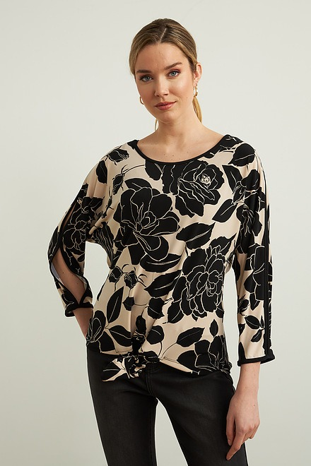 Joseph Ribkoff Floral Self-Tie Top Style 213571