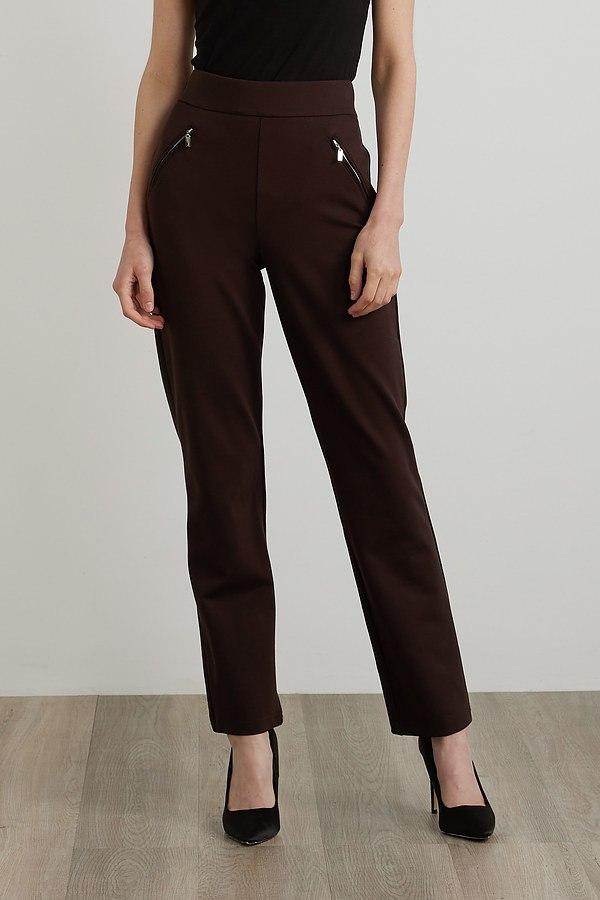 Joseph Ribkoff Flared Leg Pants Style 213589. Mocha