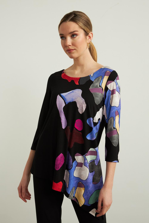 Joseph Ribkoff Black/Multi Tunics Style 213599