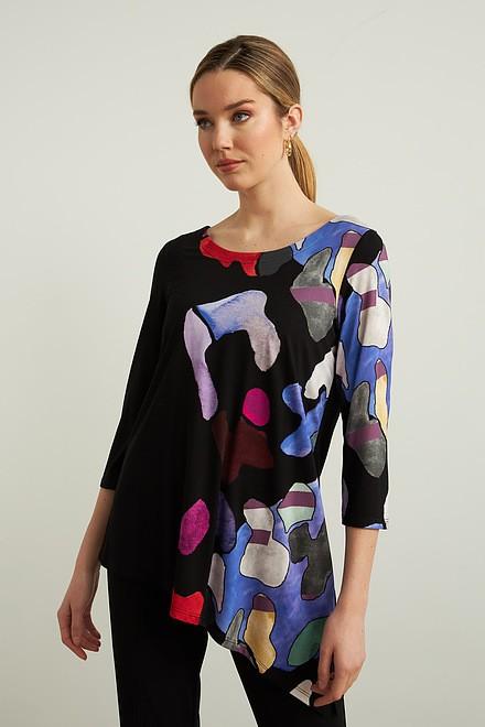 Joseph Ribkoff Asymmetric Knit Top Style 213599