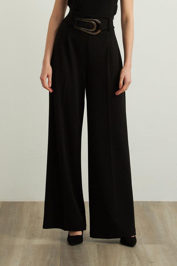 Joseph Ribkoff Crepe Wide Leg Pants Style 213611. Black