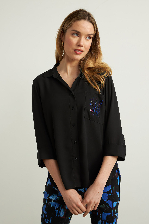 Joseph Ribkoff Chemises et blouses Noir/Saphir Royale Style 213625